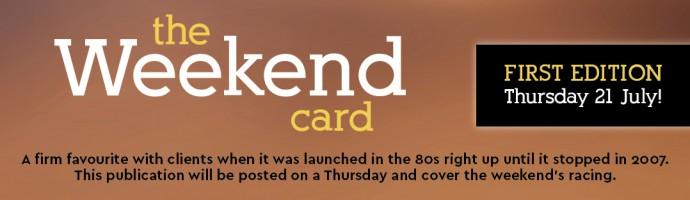 Weekend Card launch date header